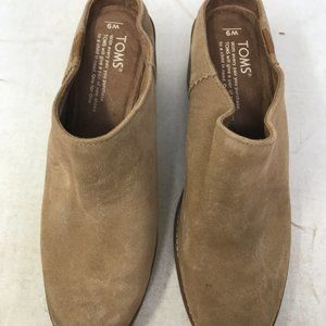 TOMS Women's Leila Mule Toffee Suede Shoes 9